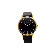 Petit/lady gold plated stainless steel black