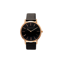 Petit/lady rosegold plated stainless steel black