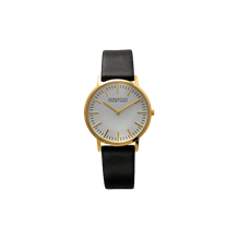 Unisex gold plated stainless steel white