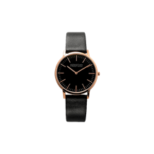 Unisex rosegold plated stainless steel black
