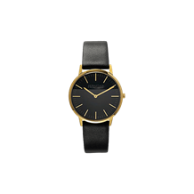 Unisex gold plated stainless steel black