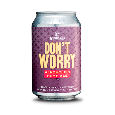 Don't Worry Hemp Ale, Alkoholfri, ØKO, 33 cl.